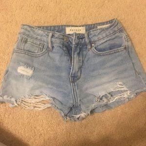 Medium Wash Pacsun Ripped Denim Shorts